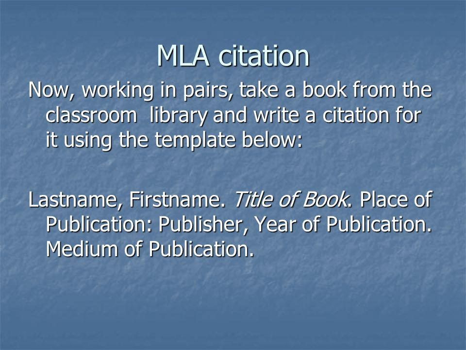 MLA citation