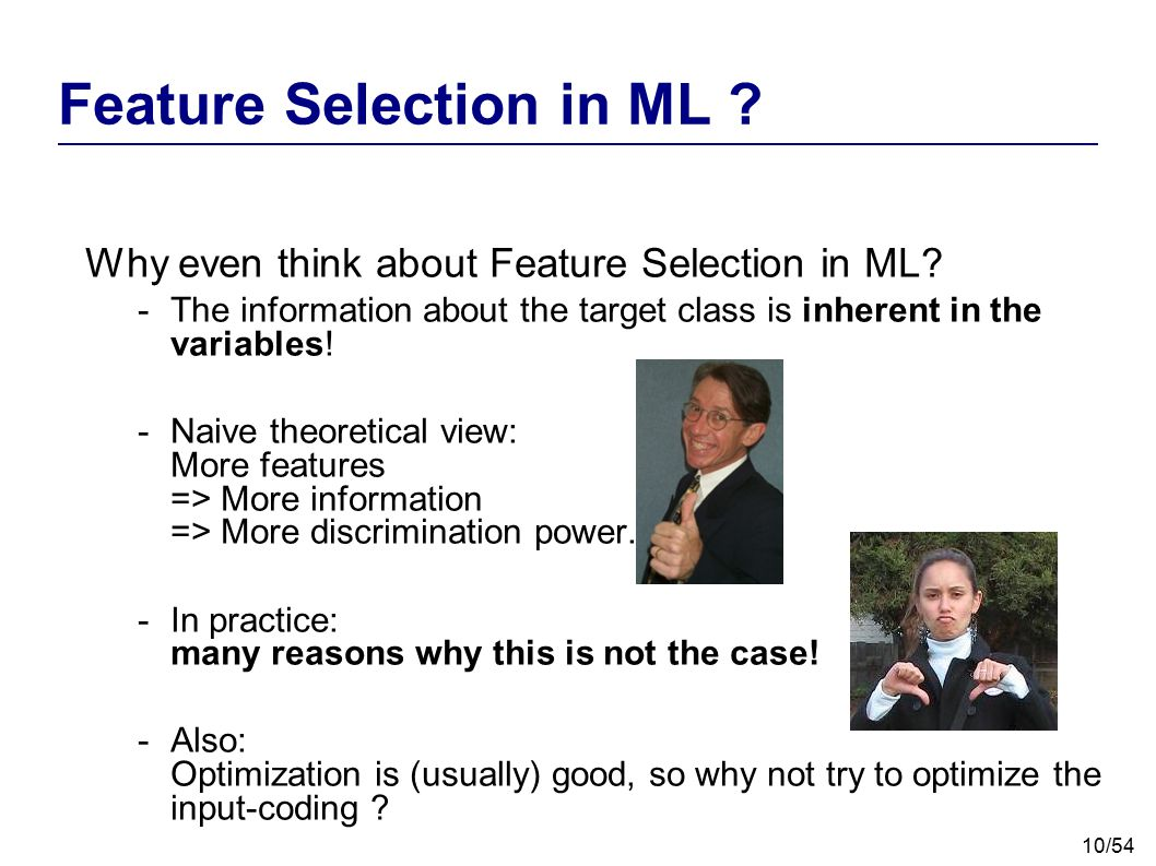 Feature Selection in ML