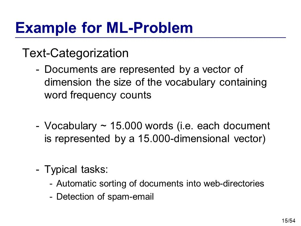 Example for ML-Problem