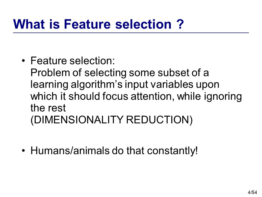 What is Feature selection