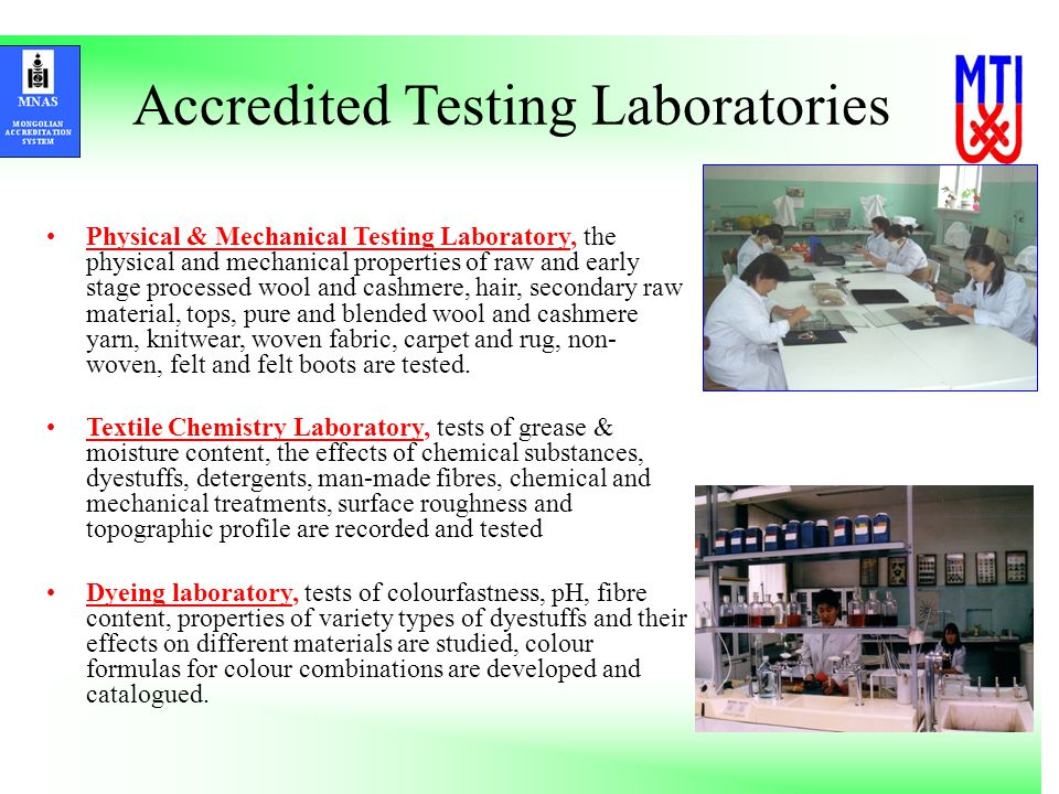 Accredited Testing Laboratories