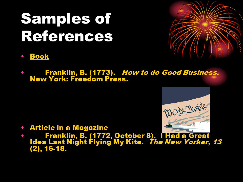 Samples of References Book