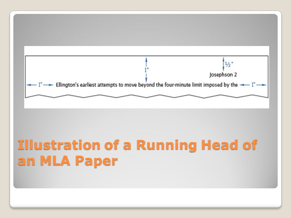 Illustration of a Running Head of an MLA Paper