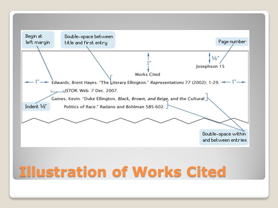 Illustration of Works Cited