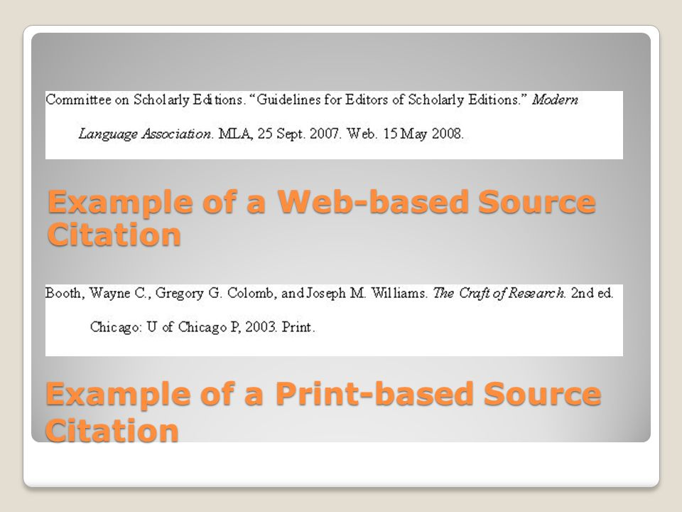 Example of a Print-based Source Citation