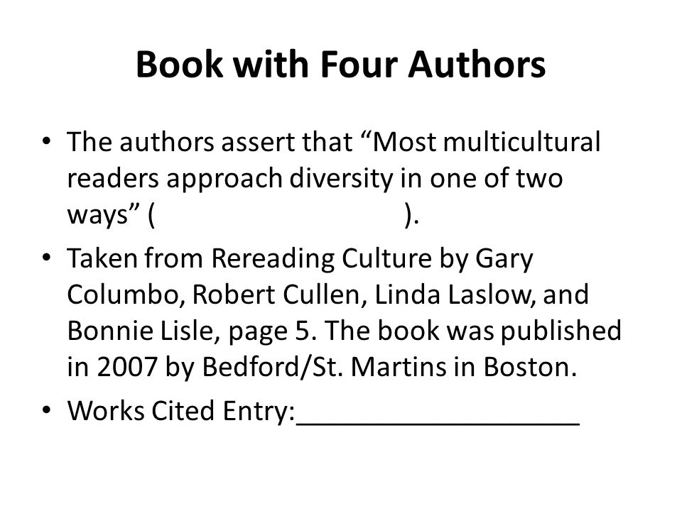 Book with Four Authors