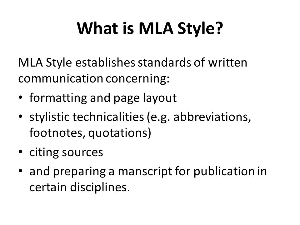 what is mla style of writing How to write a paper for school in mla format to literally introduce another person's words into your writing write in mla style heading on a literature essay.