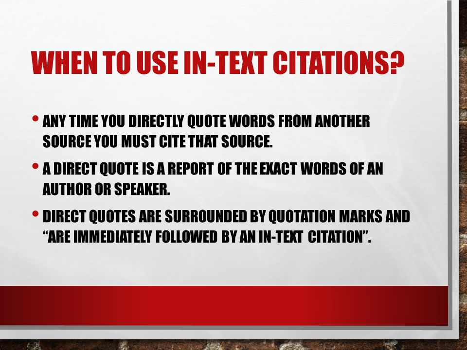 When to use in-text citations