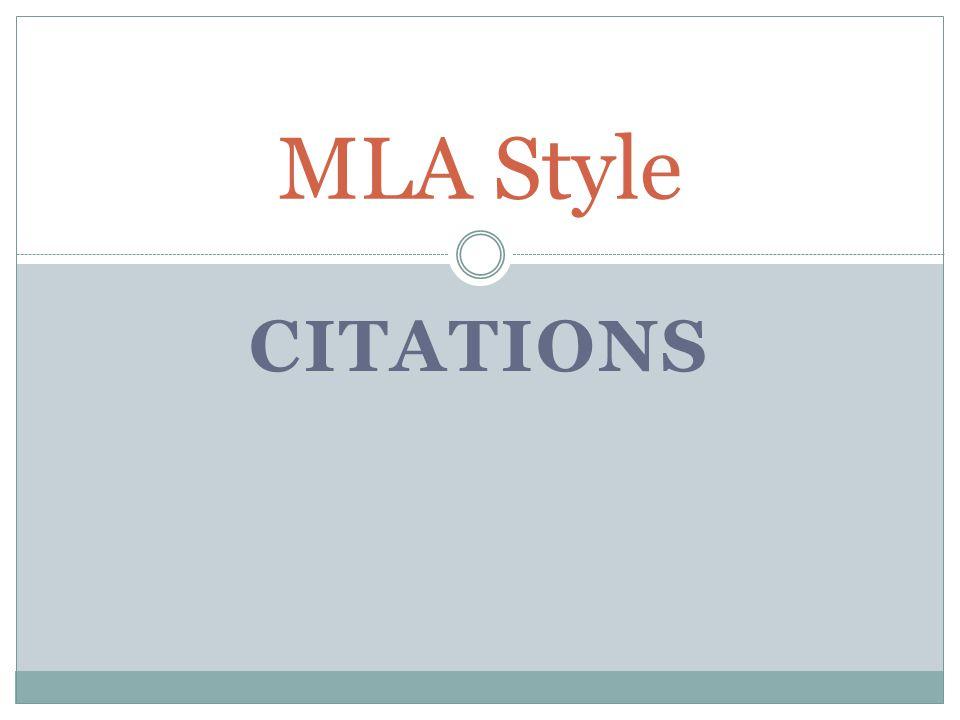 MLA Style Citations