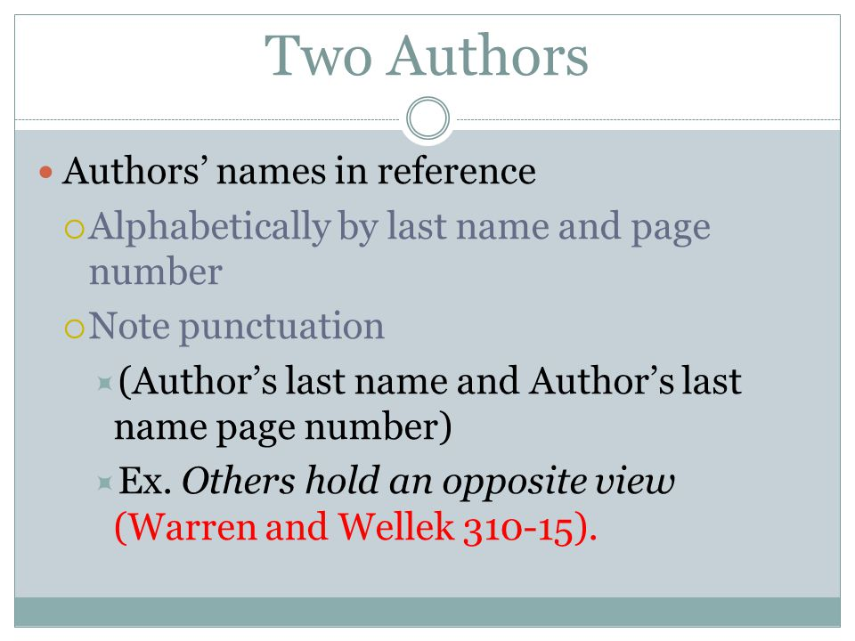 mla in text citation two authors