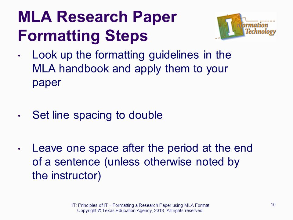 mla style papers step by step instructions for formatting research papers