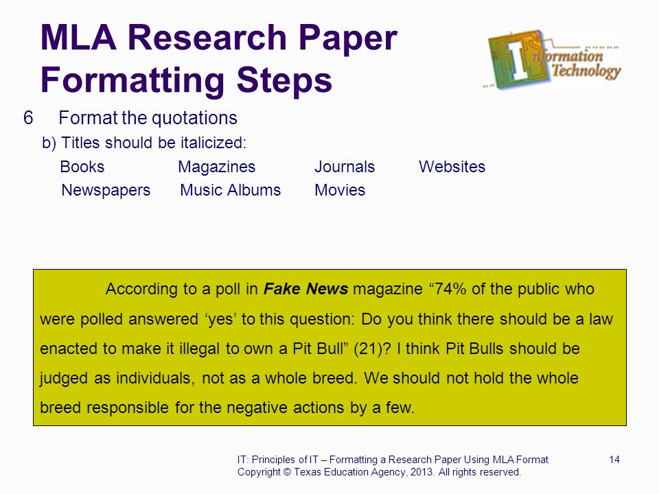 MLA Research Paper Formatting Steps