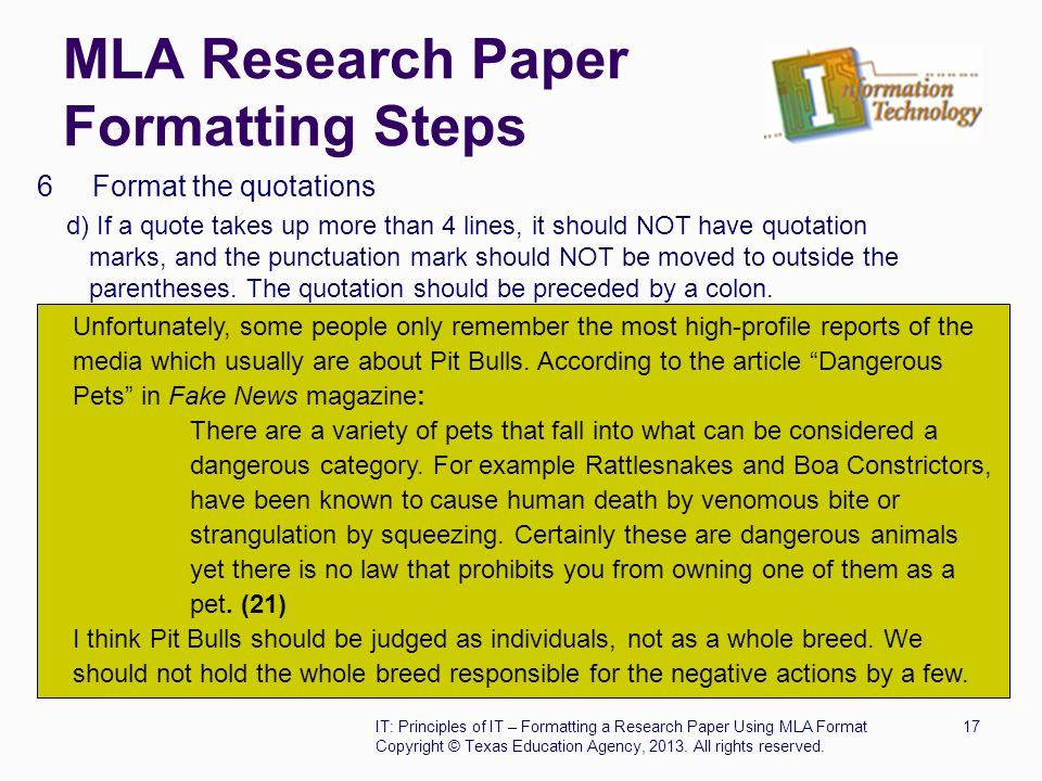 quoting in a research paper format When should i use ibid in my research paper i want to cite the same only for direct quotations for citing sources and formatting your research paper.