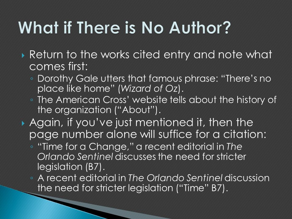 What if There is No Author