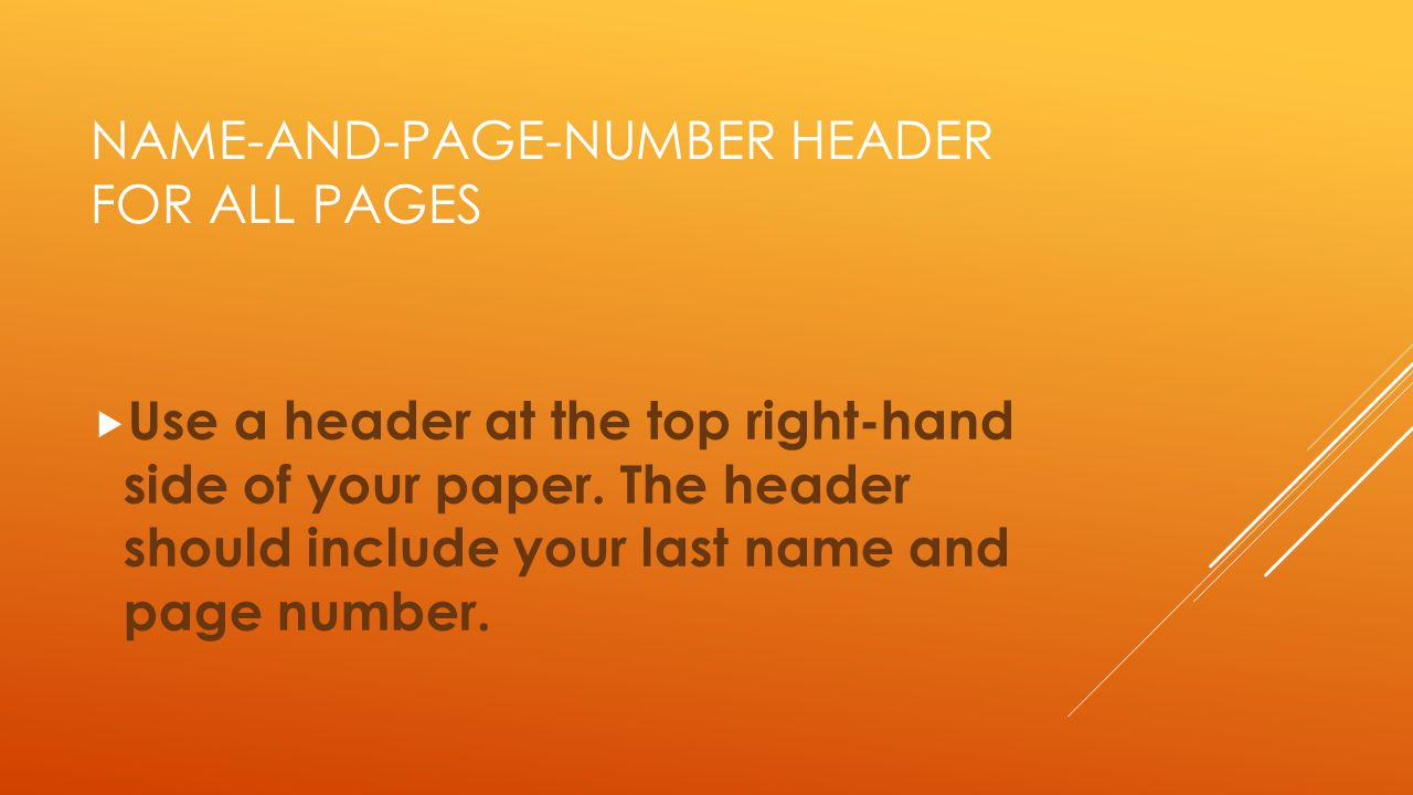 Name-and-Page-number header for all pages