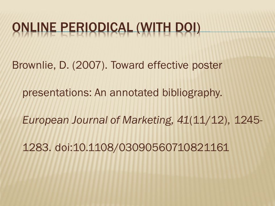 Online Periodical (with DOI)