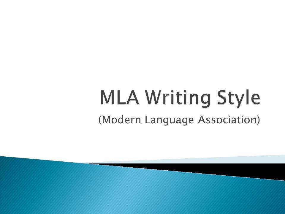 modern writing styles