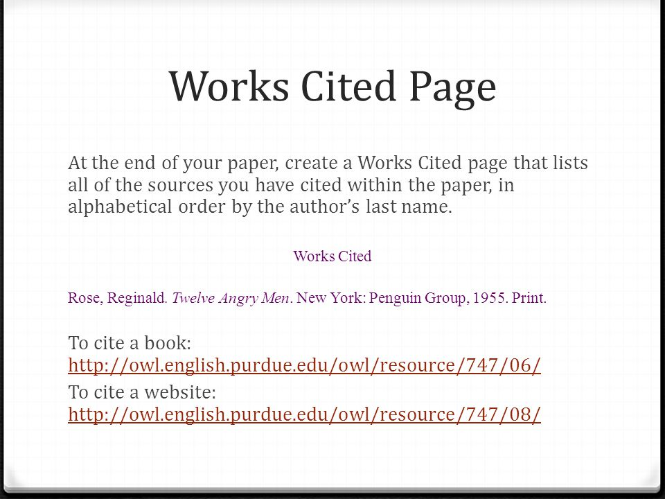 Citing sources using the mla style guide ppt video online download works cited page ccuart Images