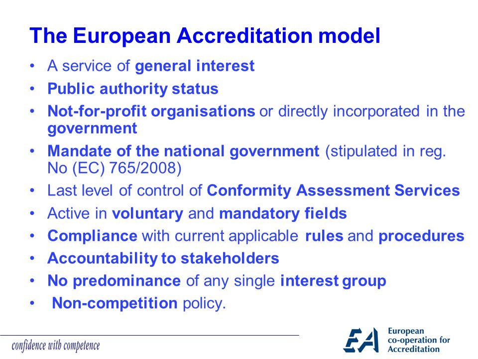 The European Accreditation model