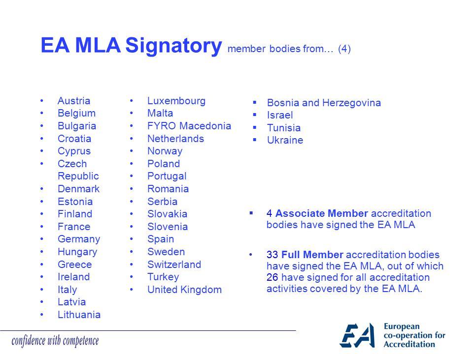 EA MLA Signatory member bodies from… (4)