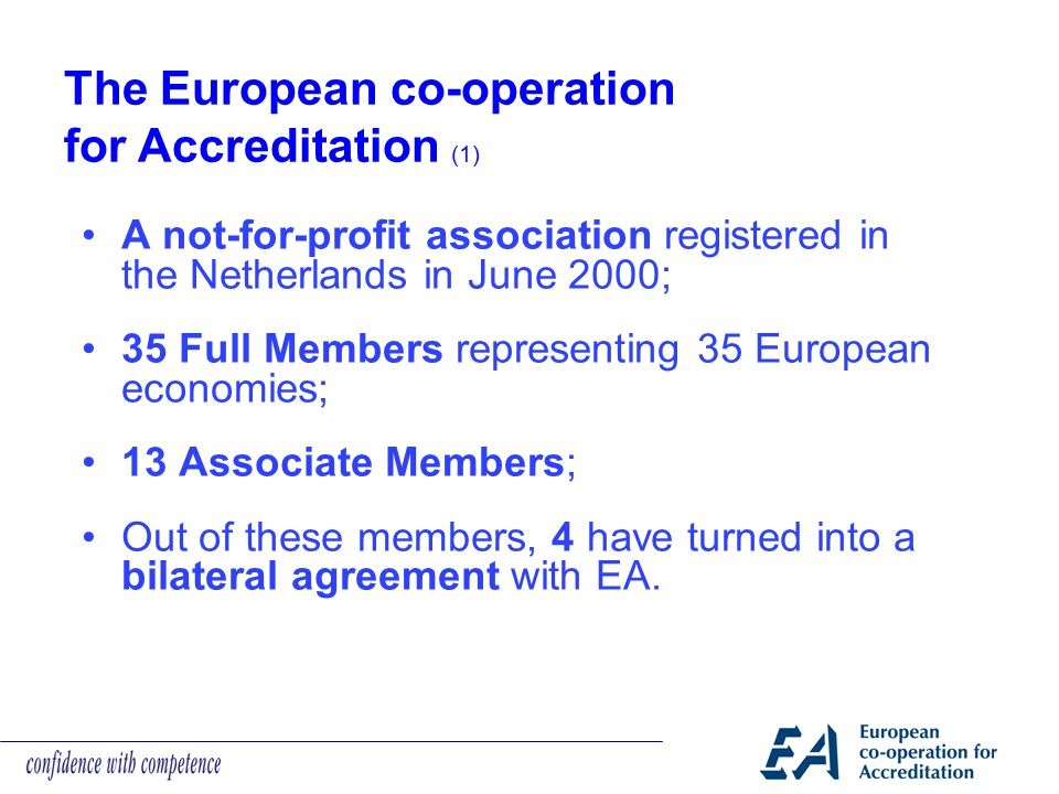 The European co-operation for Accreditation (1)