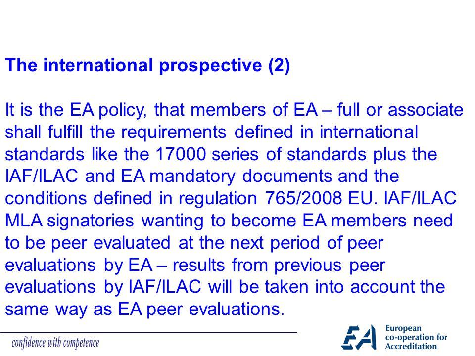 The international prospective (2)