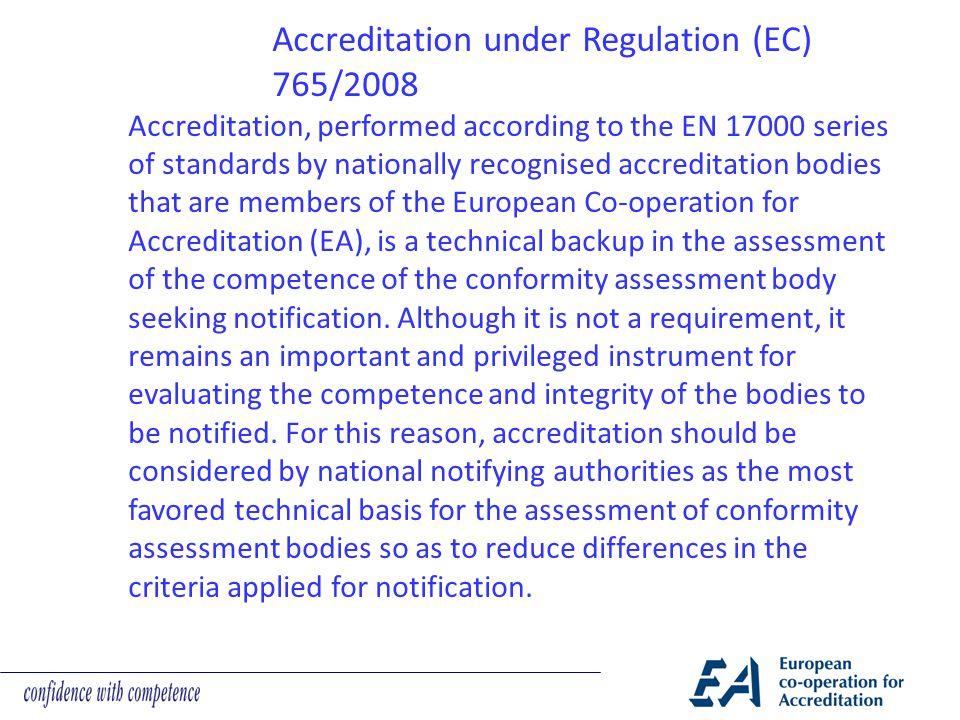Accreditation under Regulation (EC) 765/2008