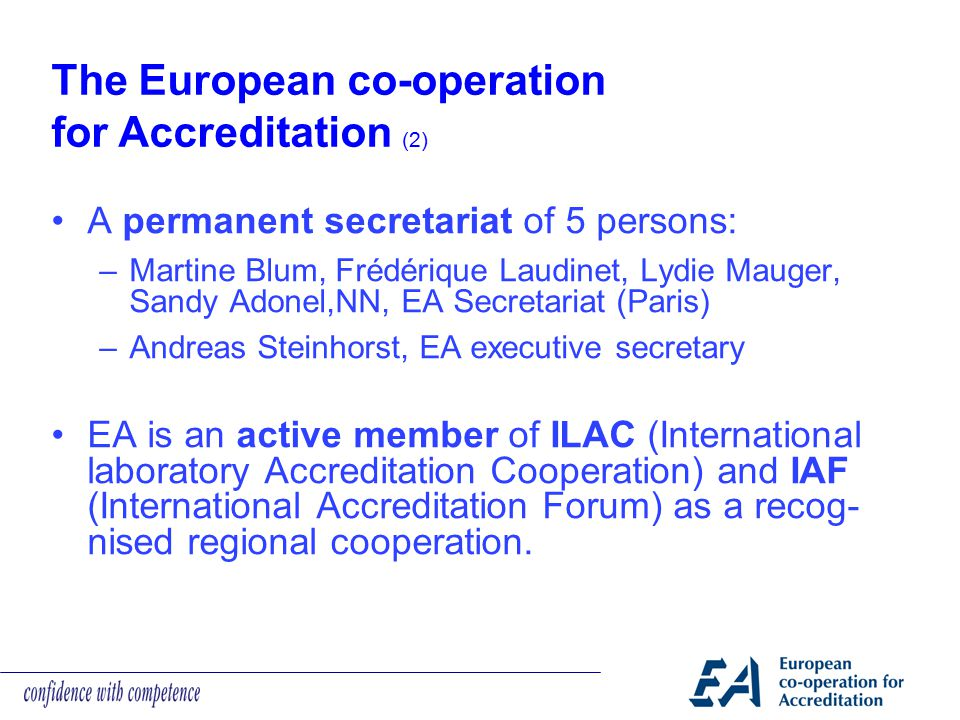 The European co-operation for Accreditation (2)