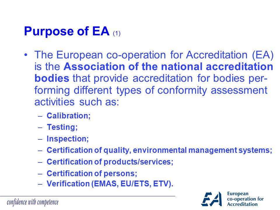 Purpose of EA (1)