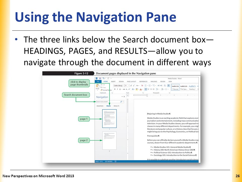 Using the Navigation Pane