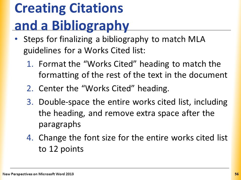 Creating Citations and a Bibliography
