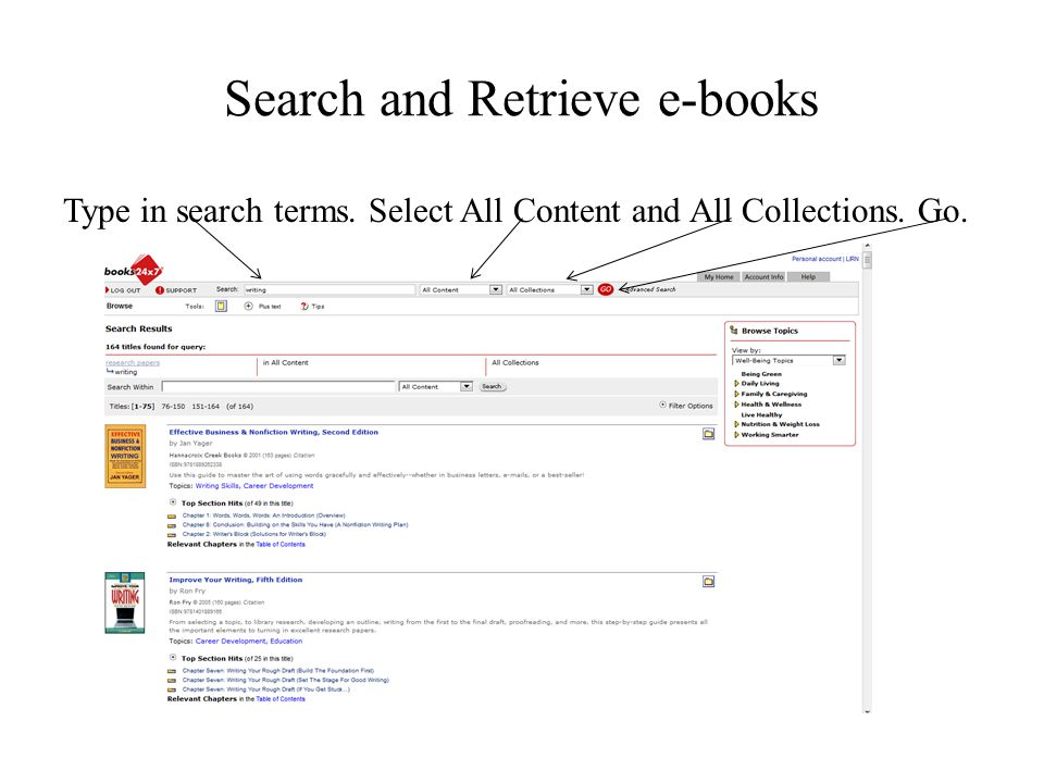Search and Retrieve e-books