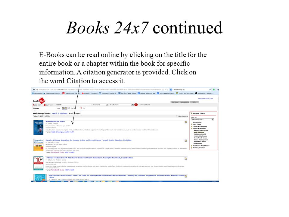Books 24x7 continued