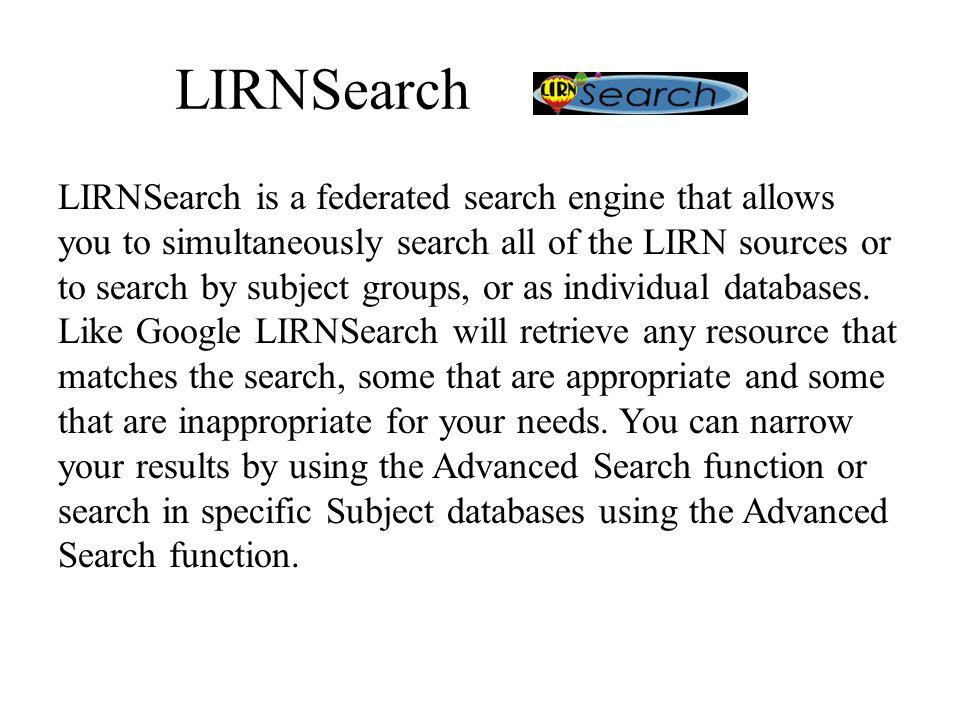 LIRNSearch