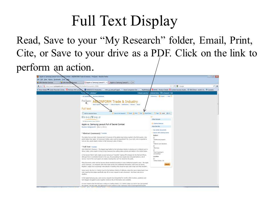 Full Text Display