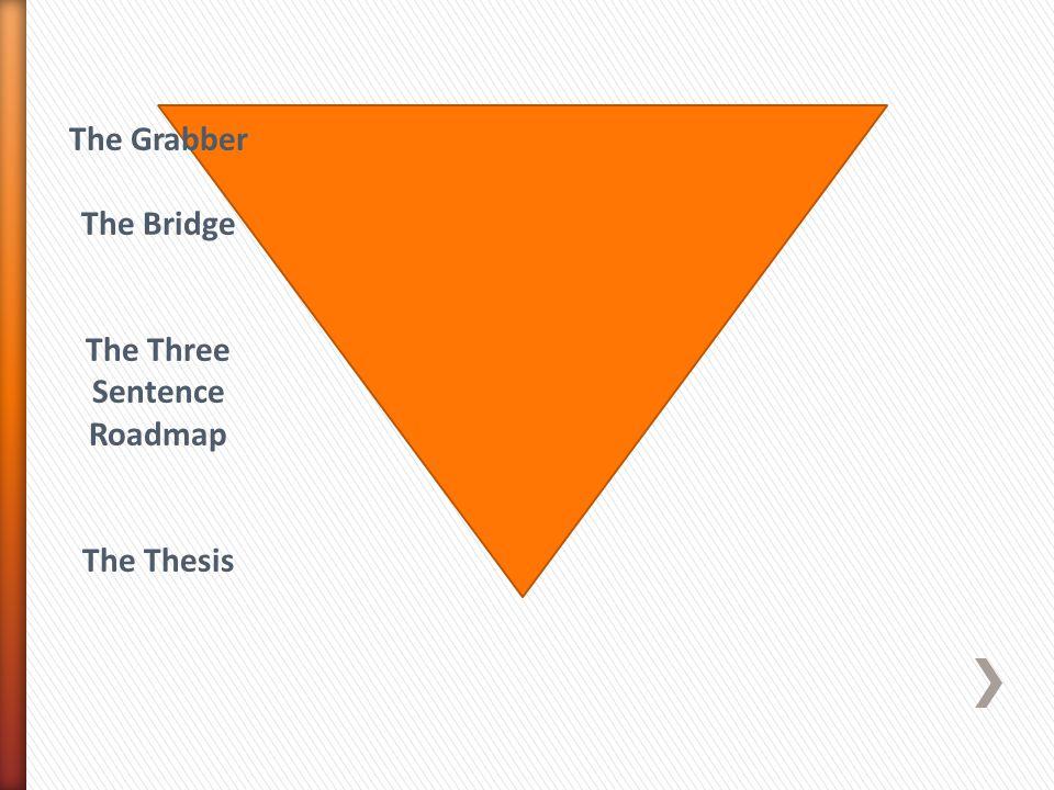 The Three Sentence Roadmap