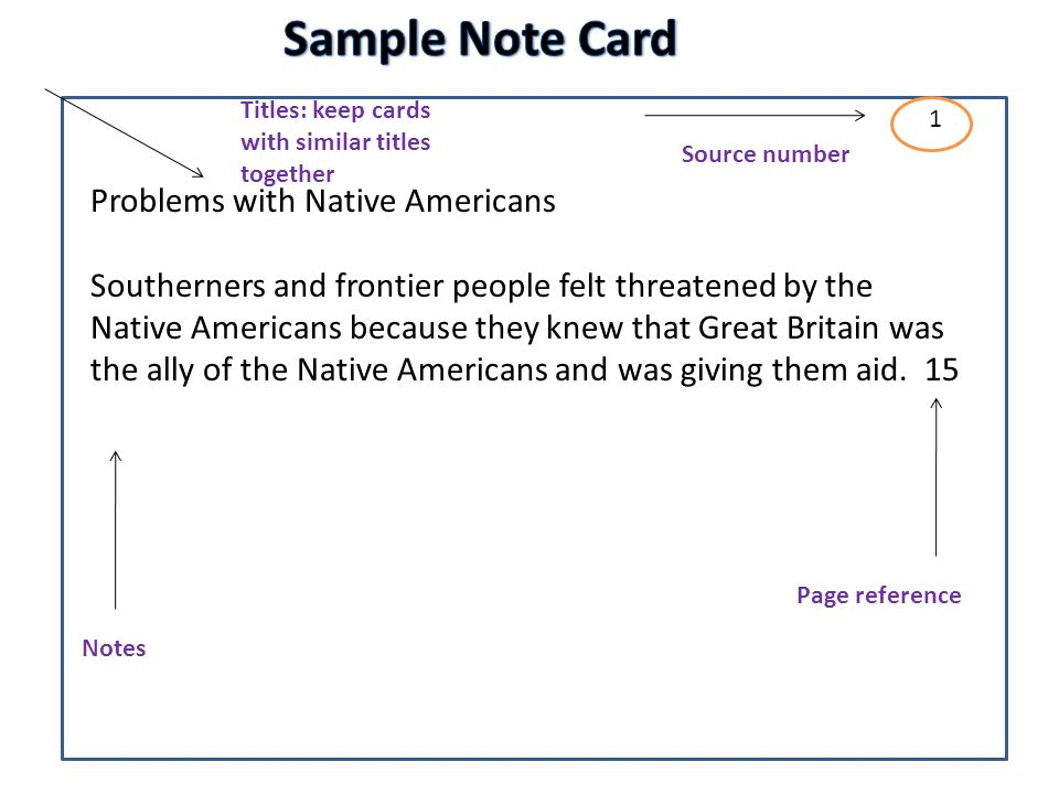 note cards format research paper How to write a science fair project research paper  some teachers recommend taking notes on note cards  how to format your research paper.
