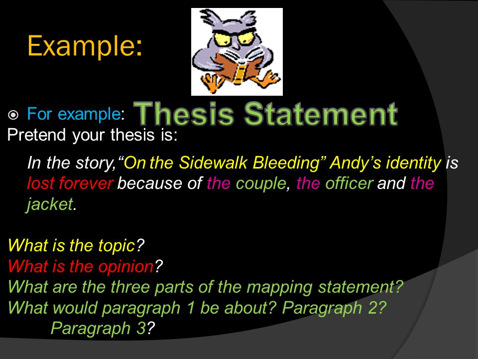 three-part analytical thesis Сreating your own strong thesis statements has never been so fast and simple try our thesis statement generator for free without registration.