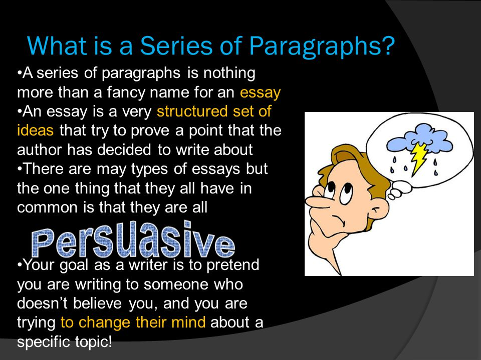 What is a Series of Paragraphs