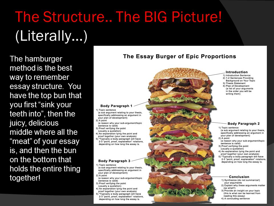 The Structure.. The BIG Picture! (Literally…)