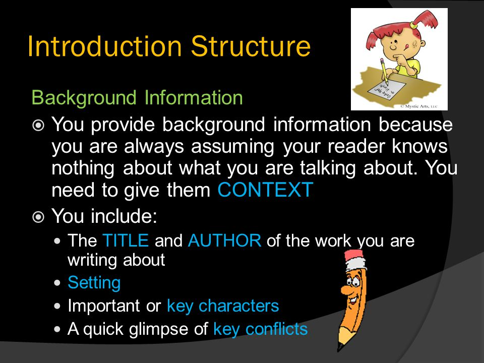 Introduction Structure