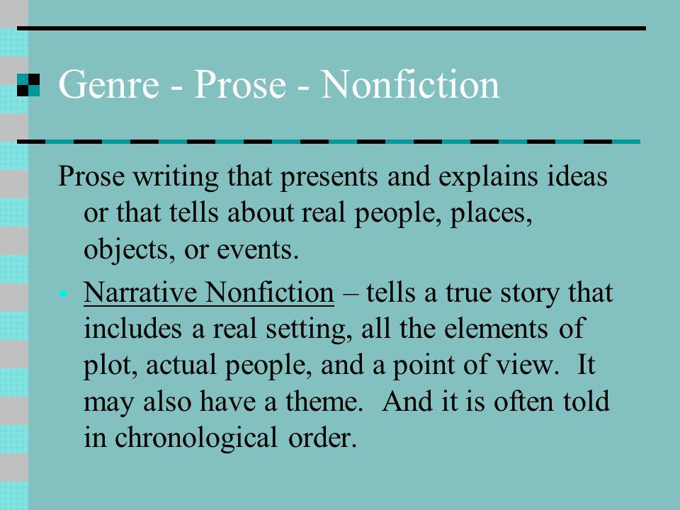 Genre - Prose - Nonfiction
