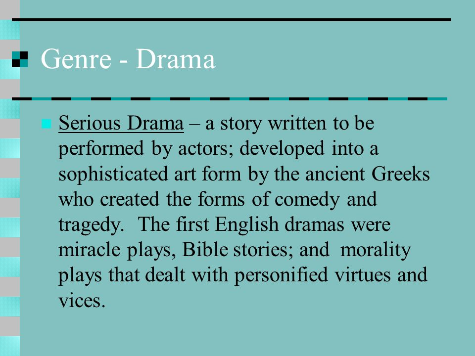 Genre - Drama