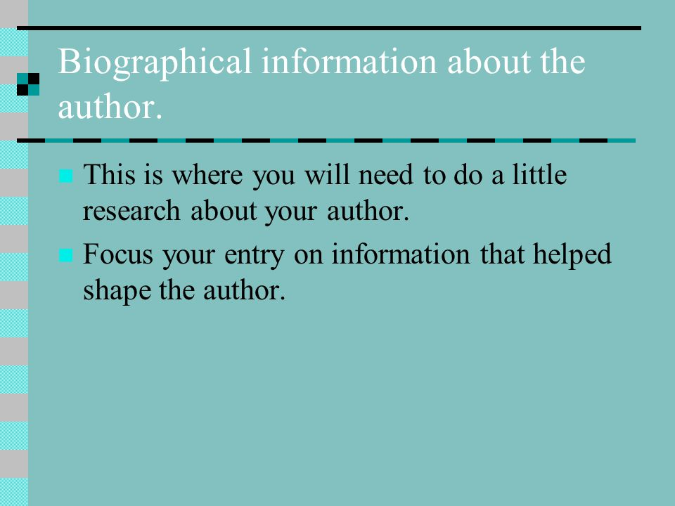 Biographical information about the author.