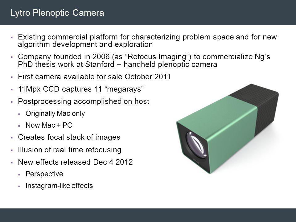 Lytro Plenoptic Camera