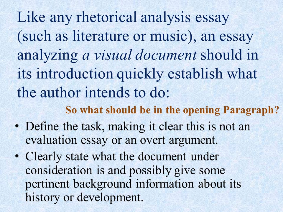 rhetorical essays on music About the owl the rscc owl was born rhetorical essays on music june essay on linguistic chauvinism 5, 1995 in writing instruction, essay is.