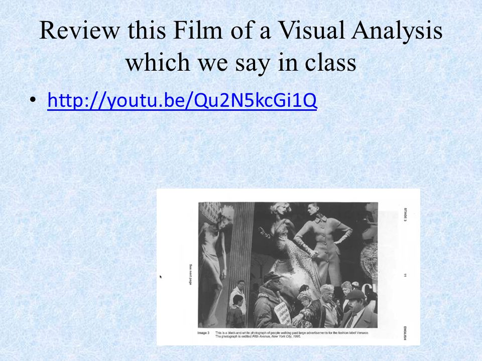 visual analysis of movies Key words: audio-visual analysis content analysis embodiment materialization  narrative  32 analyzing film and social representations.