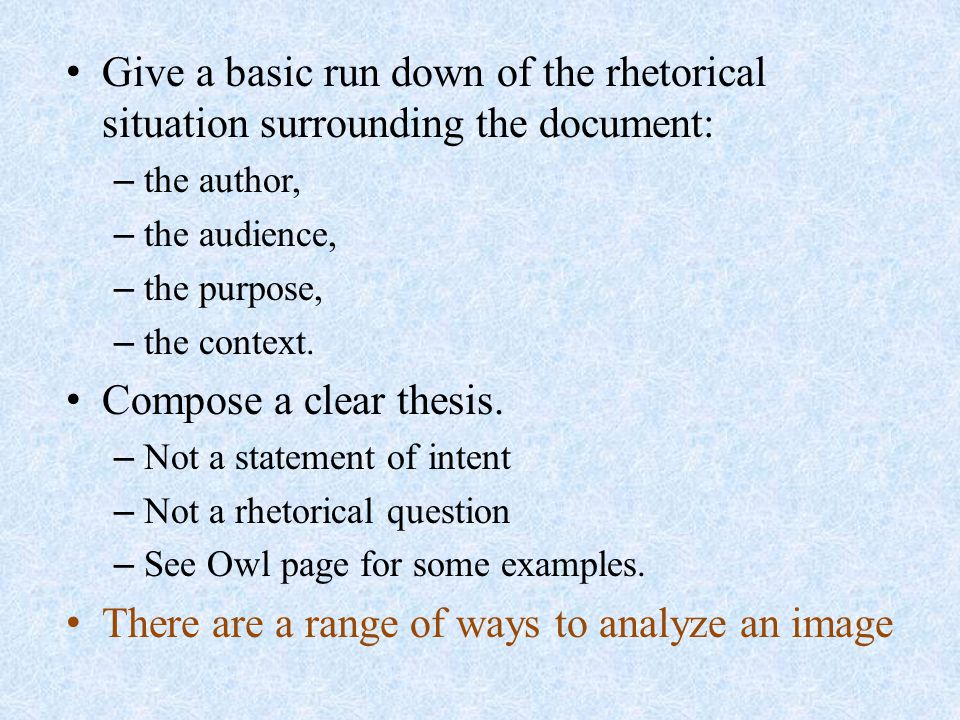 the visual analysis paper ppt video online there are a range of ways to analyze an image