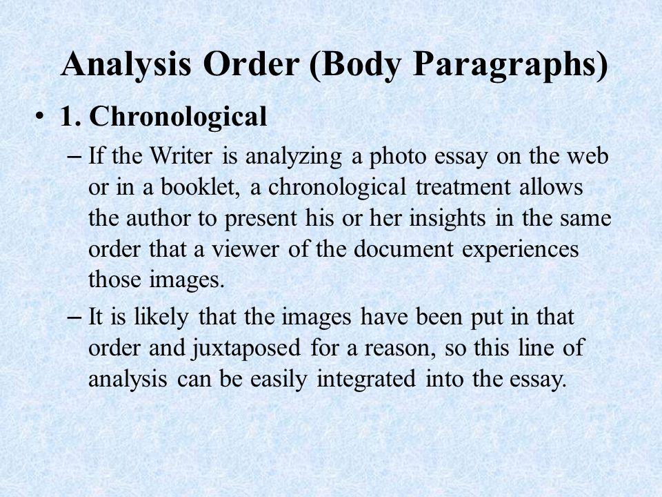 Analysis Order (Body Paragraphs)