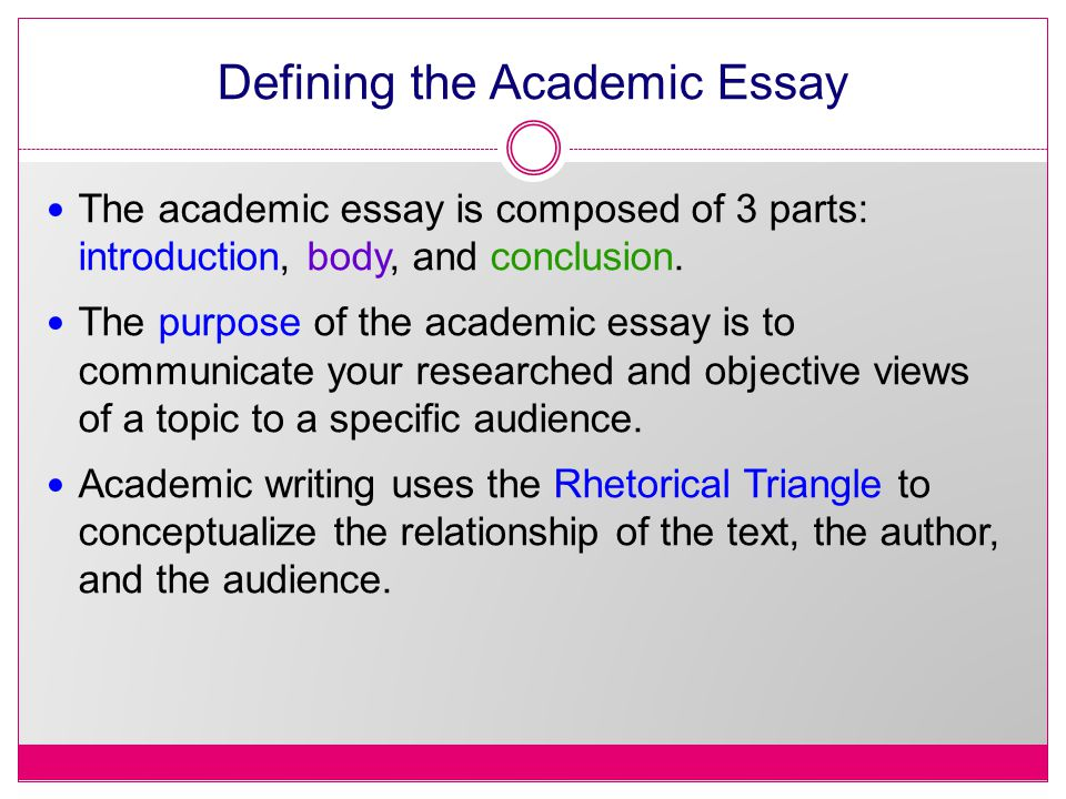 a basic guide to structure style grammar ppt defining the academic essay